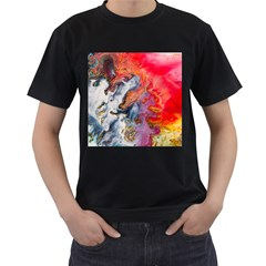 Art Abstract Macro Men s T Shirt (black)