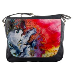 Art Abstract Macro Messenger Bags