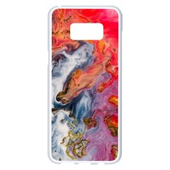 Art Abstract Macro Samsung Galaxy S8 Plus White Seamless Case