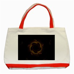 Beads Fractal Abstract Pattern Classic Tote Bag (red)