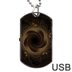 Beads Fractal Abstract Pattern Dog Tag Usb Flash (one Side)