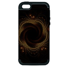 Beads Fractal Abstract Pattern Apple Iphone 5 Hardshell Case (pc+silicone)