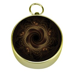 Beads Fractal Abstract Pattern Gold Compasses