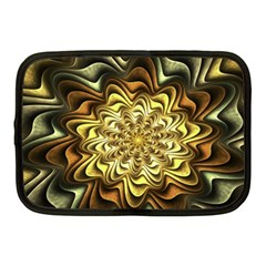 Fractal Flower Petals Gold Netbook Case (medium)