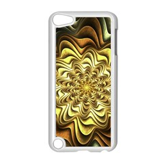 Fractal Flower Petals Gold Apple Ipod Touch 5 Case (white)