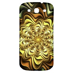 Fractal Flower Petals Gold Samsung Galaxy S3 S Iii Classic Hardshell Back Case