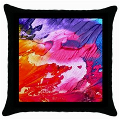 Abstract Art Background Paint Throw Pillow Case (black)