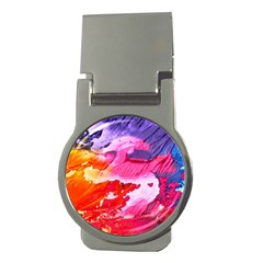 Abstract Art Background Paint Money Clips (round)