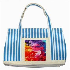 Abstract Art Background Paint Striped Blue Tote Bag