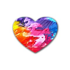 Abstract Art Background Paint Heart Coaster (4 Pack)