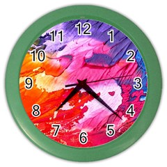 Abstract Art Background Paint Color Wall Clocks