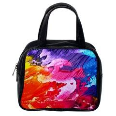 Abstract Art Background Paint Classic Handbags (one Side)