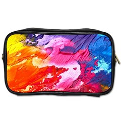 Abstract Art Background Paint Toiletries Bags
