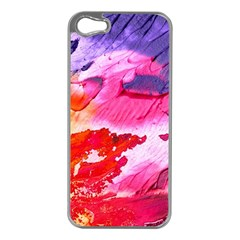 Abstract Art Background Paint Apple Iphone 5 Case (silver)
