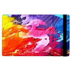Abstract Art Background Paint Apple Ipad 2 Flip Case