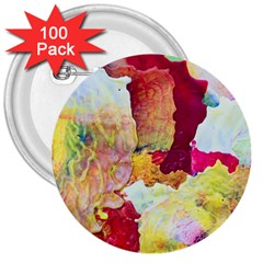 Art Detail Abstract Painting Wax 3  Buttons (100 Pack)