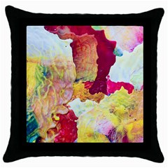 Art Detail Abstract Painting Wax Throw Pillow Case (black)