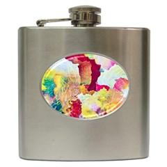 Art Detail Abstract Painting Wax Hip Flask (6 Oz)