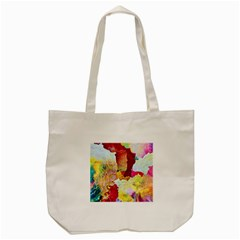 Art Detail Abstract Painting Wax Tote Bag (cream)