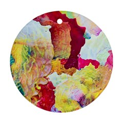 Art Detail Abstract Painting Wax Round Ornament (two Sides)