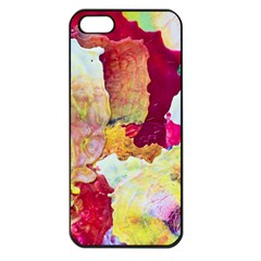 Art Detail Abstract Painting Wax Apple Iphone 5 Seamless Case (black)