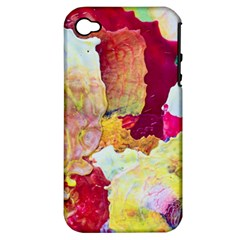 Art Detail Abstract Painting Wax Apple Iphone 4/4s Hardshell Case (pc+silicone)