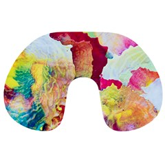 Art Detail Abstract Painting Wax Travel Neck Pillows