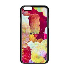 Art Detail Abstract Painting Wax Apple Iphone 6/6s Black Enamel Case