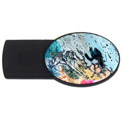 Abstract Structure Background Wax Usb Flash Drive Oval (2 Gb)