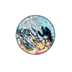 Abstract Structure Background Wax Hat Clip Ball Marker