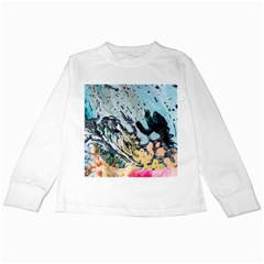 Abstract Structure Background Wax Kids Long Sleeve T Shirts