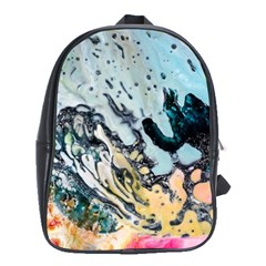 Abstract Structure Background Wax School Bag (large)