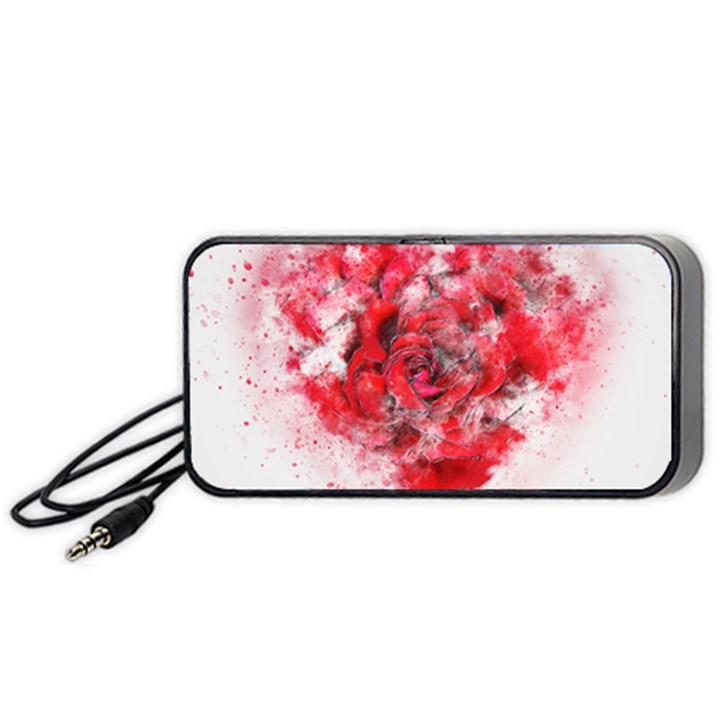 Flower Roses Heart Art Abstract Portable Speaker