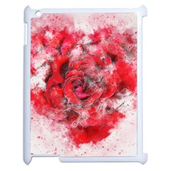 Flower Roses Heart Art Abstract Apple Ipad 2 Case (white)
