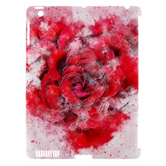 Flower Roses Heart Art Abstract Apple Ipad 3/4 Hardshell Case (compatible With Smart Cover)