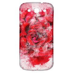 Flower Roses Heart Art Abstract Samsung Galaxy S3 S Iii Classic Hardshell Back Case