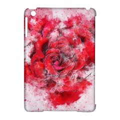 Flower Roses Heart Art Abstract Apple Ipad Mini Hardshell Case (compatible With Smart Cover)