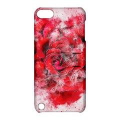 Flower Roses Heart Art Abstract Apple Ipod Touch 5 Hardshell Case With Stand
