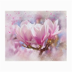 Flowers Magnolia Art Abstract Small Glasses Cloth (2 Side)