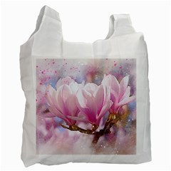 Flowers Magnolia Art Abstract Recycle Bag (two Side)