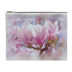 Flowers Magnolia Art Abstract Cosmetic Bag (xl)