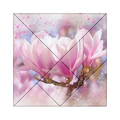 Flowers Magnolia Art Abstract Acrylic Tangram Puzzle (6  X 6 )