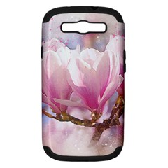 Flowers Magnolia Art Abstract Samsung Galaxy S Iii Hardshell Case (pc+silicone)