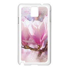 Flowers Magnolia Art Abstract Samsung Galaxy Note 3 N9005 Case (white)