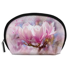 Flowers Magnolia Art Abstract Accessory Pouches (large)
