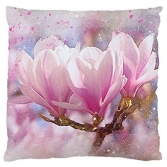 Flowers Magnolia Art Abstract Standard Flano Cushion Case (one Side)