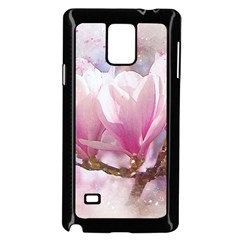 Flowers Magnolia Art Abstract Samsung Galaxy Note 4 Case (black)