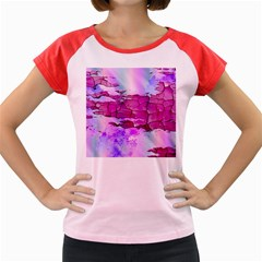 Background Crack Art Abstract Women s Cap Sleeve T Shirt