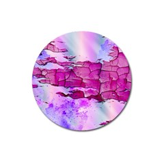 Background Crack Art Abstract Magnet 3  (round)