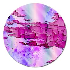 Background Crack Art Abstract Magnet 5  (round)